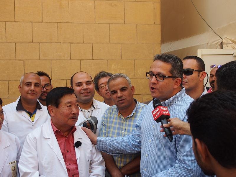 考古大臣Khaled El-Enanyと吉村先生