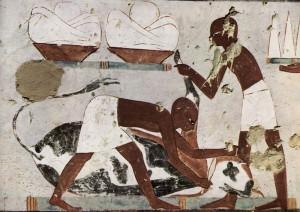 ウシの屠殺の壁画
